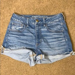 American eagle super stretchy high rise shortie